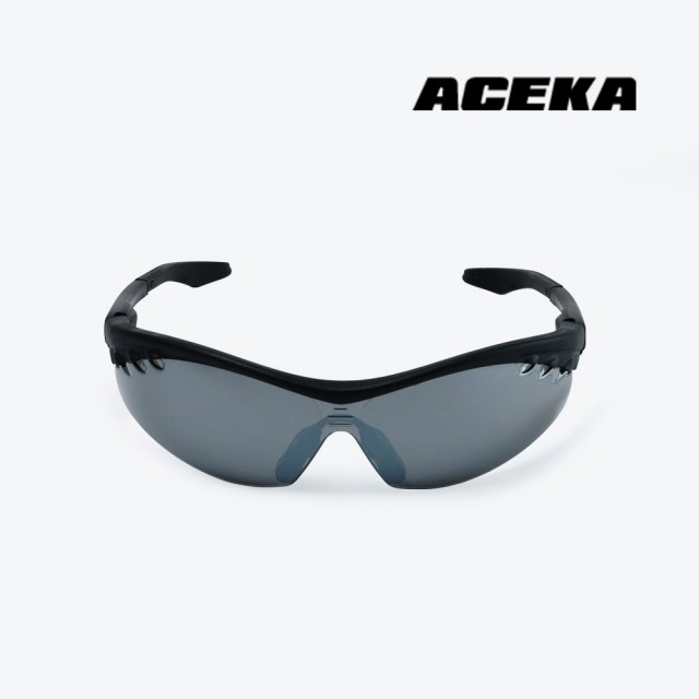 【ACEKA】運動太陽眼鏡/質感黑框電鍍水銀鏡片款/安全眼鏡/防護眼鏡/墨鏡(護目鏡)