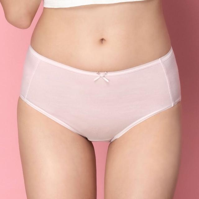 【SAVVY 莎薇】高保濕潤澤纖維 M-3L中腰三角褲 健康材質-AS3318P9(玫瑰水色)